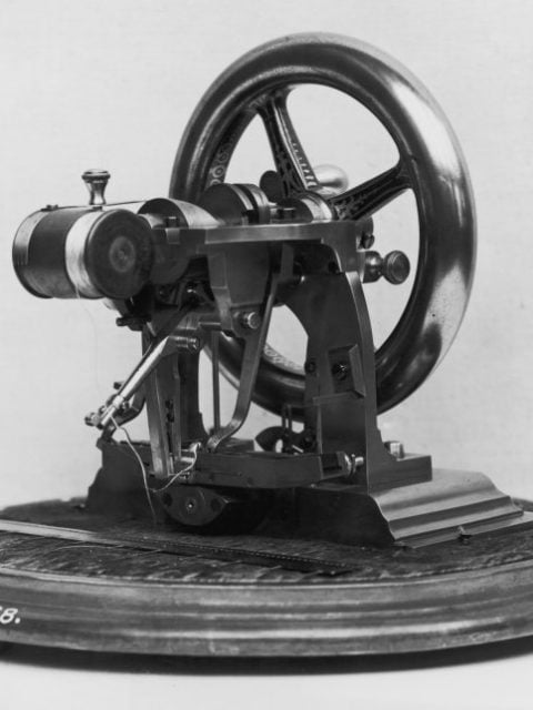 Elias_Howe_1845_the_first_functional_lockstitch_machine