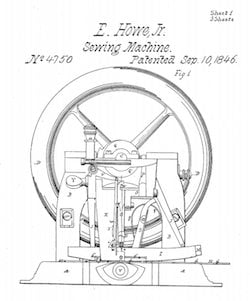 Elias_Howe_Patent_howe_sewing_US_4750