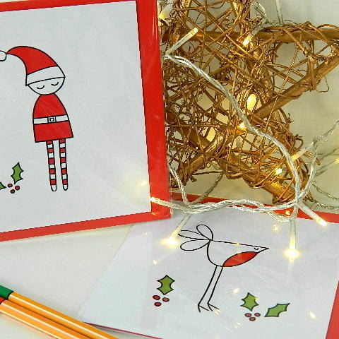 christmas_cards_elf_and_robin