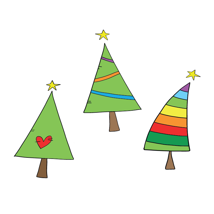 three_christmas_trees_rainbow