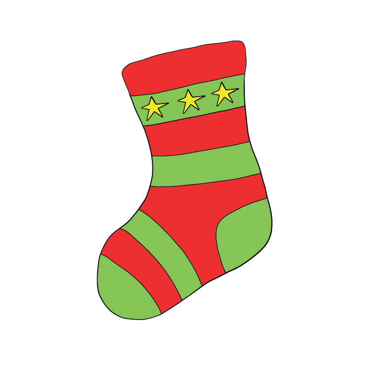 red_and_green_stocking