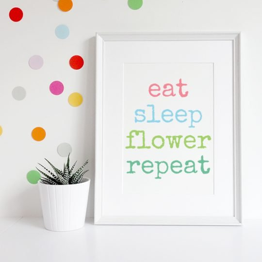 eat_sleep_flower_print
